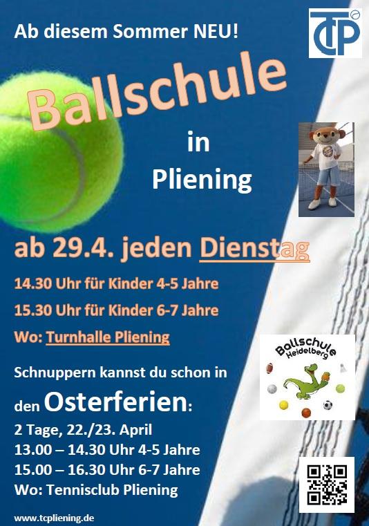Ballschule Plakat