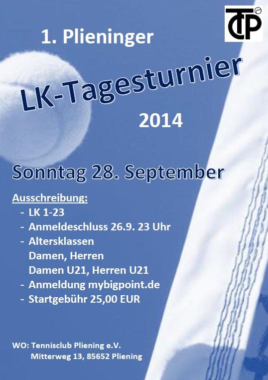 Plakat LK-Tagesturnier