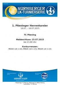 Plakat 1. Plieninger Herrenturnier